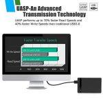AGPTEK USB 3.0 Boitier Externe pour Disque Dur Externe 2.5'' SATA HDD SSD (7mm à 9,5mm), Haut Débit & Indicateur LED, Supporte UASP Haute Vitesse à 6Gbps, USB 3.0 Câble Inclus, Noir de la marque AGPTEK image 2 produit
