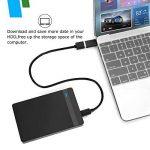 AGPTEK USB 3.0 Boitier Externe pour Disque Dur Externe 2.5'' SATA HDD SSD (7mm à 9,5mm), Haut Débit & Indicateur LED, Supporte UASP Haute Vitesse à 6Gbps, USB 3.0 Câble Inclus, Noir de la marque AGPTEK image 3 produit