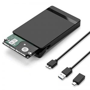 AGPTEK USB 3.0 Boitier Externe pour Disque Dur Externe 2.5'' SATA HDD SSD (7mm à 9,5mm), Haut Débit & Indicateur LED, Supporte UASP Haute Vitesse à 6Gbps, USB 3.0 Câble Inclus, Noir de la marque AGPTEK image 0 produit