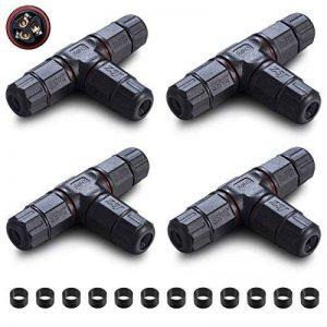 ASEL 4pcs Boîte de jonction IP68 Connecteur de câble étanche à l'extérieur Connecteur de gaine externe Ø 5mm-11mm (3 pôles noirs), 12pcs Bague en silicone(8-11mm), 12pcs Bague en silicone(5-10mm) de la marque ASEL image 0 produit
