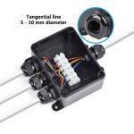 ATPWONZ Boîte de Jonction IP66 Extérieur 4 Voies Passe-câble Connecteur M16 Boîte de Jonction de Câble Ø 5 mm - 10 mm (Noir) de la marque ATPWONZ image 3 produit