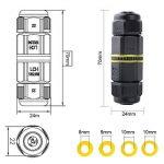 Boite de Derivation Etanche, Paquet de 2 Boitier Electrique IP68 - Boite de Jonction Ø 5mm-10mm-Facile à Installer (Noir, PA66) de la marque chestele image 3 produit