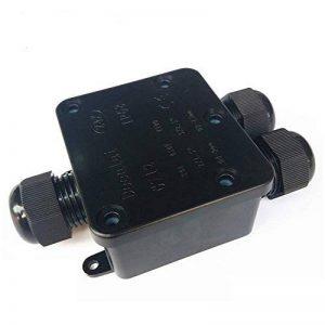 Boîte de dérivation connecteur de câble, DE grands 3 voies éclairage d'extérieur Boîte de jonction connecteur IP68 étanche – Noir Coupler, connecteur de câble externe Peut électriques, goupilles pour câble 12-15mm câble Diamètre de la marque Langdy image 0 produit