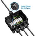 Boîte de Jonction, Doris Direct IP66 Connecteur Étanche 4 Voies Connecteurs Boîtier Électrique Extérieur, M16 goupilles pour câble Ø 6.5 Mm-10.5 mm (ABS + PVC) de la marque Doris Direct image 3 produit