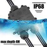Boîte de Jonction, Lypumso Boîte de Connecteur IP68 Étanche 3 Voies PC+PA66, Câble Diamètre 4mm-14mm, pour Éclairage Électrique Extérieur, Noir de la marque Lypumso image 1 produit