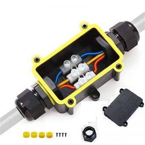 boîte de jonction étanche boîte à bornes IP68 moufle Boîtier de Raccordement 2 Voies Connecteurs boîte de jonction électrique pour Câble Ø 4 à 14mm de la marque Yeasing image 0 produit