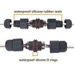 Boîtes de Jonction étanche – Meersee Boite de Dérivation Rallonges électriques Boîtier de Connexion en 2 pôles Résistant à l'eau IP67 Connecteurs Noirs, lot de 3 de la marque Meersee image 1 produit