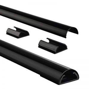 Chemin de cÃble en PVC, semi-circulaire, 110/3,3/1,8 cm, noir de la marque Hama image 0 produit