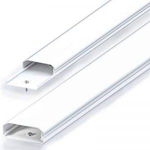 Conduit de câble goulotte de distribution deleyCON Universal câblage facile de câbles et fils PVC de grande qualité longueur 50 cm, largeur 6 cm, hauteur 2 cm - blanc de la marque deleyCON image 0 produit