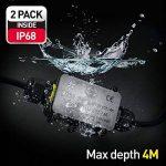 Connecteur de câble extérieur étanche IP68 pour boîte de jonction avec 2 câbles SOMELINE pour câble de diamètre 4-9 mm (lot de 2) de la marque SOMELINE image 2 produit