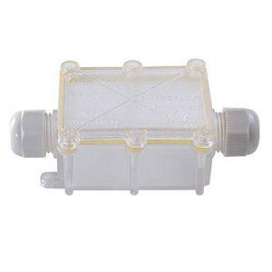 Eshall Boîte de Jonction IP68 Étanche Connecteur de Câble Ø 5mm-15mm Boîtes de Connexion pour Éclairage Électrique Extérieur (2 Voies) de la marque Eshall image 0 produit
