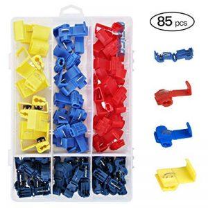 FEIGO Kit Cosse Electrique, Connecteur Rapide Isolé Assortiment Multicolore pour Fils et Câbles 0.5~6mm² - 85 Pièces de la marque FEIGO image 0 produit