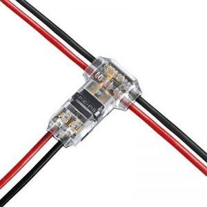FOCCTS 12 pièces Connecteur en T pour fil electrique 20/22 AWG Voiture Étanche Connecteur Électrique double voie - 12 pièces basse tension T robinet serre-fils T type 2 broches sans soudure avec aucun fil-décapage nécessaire à mi-portée ramification en fi image 0 produit