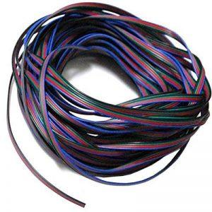 Foxnovo Ligne de câble Extension durable 20M 4 broches RVB pour bande LED lampe de lecture liseuse RGB5050 /RGB3528 de la marque WINOMO image 0 produit