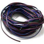 Foxnovo Ligne de câble Extension durable 20M 4 broches RVB pour bande LED lampe de lecture liseuse RGB5050 /RGB3528 de la marque WINOMO image 1 produit