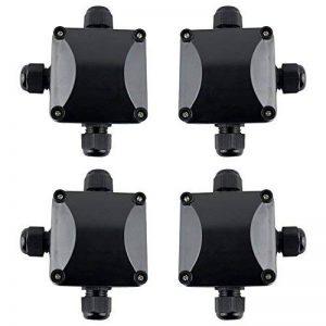 GWHOLE 4 x Boîte de jonction étanche IP66 Boîtier de Raccordement 3 Câbles Extérieurs Noir de la marque GWHOLE image 0 produit
