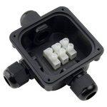 GWHOLE 4 x Boîte de jonction étanche IP66 Boîtier de Raccordement 3 Câbles Extérieurs Noir de la marque GWHOLE image 1 produit