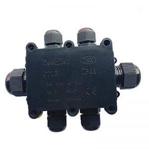 Le connecteur imperméable extérieur de câble de boîte de jonction peut 3 voies IP68 - noir Le coupleur externe électrique, câble connecteur peut, diamètre de câble de presse-étoupe de câble de 9mm-12m de la marque Langdy image 0 produit