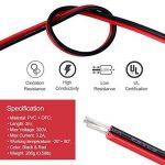 LegendTech 20m 2 Connecteur Pin Rallonge de Bande de LED Câble de Raccordement de Bande de LED avec 6 PCS Non-soudé DC Connecteurs à Broches pour Appareil Electrique Rouge Noir de la marque LegendTech image 1 produit