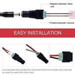 LegendTech 20m 2 Connecteur Pin Rallonge de Bande de LED Câble de Raccordement de Bande de LED avec 6 PCS Non-soudé DC Connecteurs à Broches pour Appareil Electrique Rouge Noir de la marque LegendTech image 3 produit