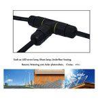 Lot de 3Nuzamas 3façons 3broches Connecteur étanche extérieur Boîte de jonction IP 68Connecteurs électriques pour 4.5–10mm câble, éclairage d'extérieur, Noël, rue, lumière, lampe LED, solaire Fournitures de la marque NUZAMAS image 4 produit