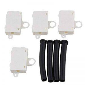 Lot de 4mini bornes de jonction avec gaines de câbles en plastique noires - Terminaux T06-MM3S - Beiges de la marque Unbekannt image 0 produit