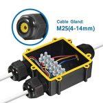 Masterein 3-Way 24A 450V Noir Câble extérieur étanche IP68 Junction Box connecteur électrique du boîtier Case pour câble Dia 4-8mm de la marque Masterein image 4 produit