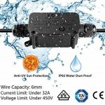 MiMoo IP66 extérieur étanche Boîte de jonction avec 2 Câble PG9 Gland connecteur de fil de plastique Boîte de jonction pour câble de diamètre 4-8 mm (lot de 2), Noir de la marque MiMoo image 4 produit