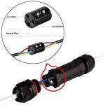 Moobom 4 pièces Boîte de Jonction IP68 Connecteur Étanche 3 Voies Connecteurs Boîtier Électrique Extérieur Connexion Sleeve Coupler pour Ø 5.5 mm-10.2 mm Diamètre du-Noir … (Lot de 2) de la marque Moobom image 2 produit