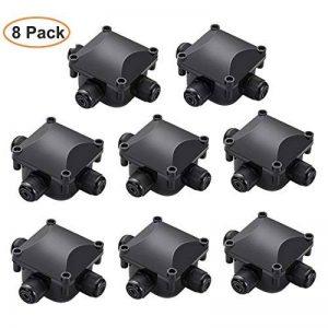 NOTENS 8 Pack Boîte de jonction électrique extérieure imperméable extérieure de connecteurs de câble de boîte de jonction de 3 manières de la marque NOTENS image 0 produit