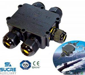 Sucre auxiliaire® 24A 450V 5Way IP68connecteur de fil de câble électrique étanche Boîte de jonction de la marque Sucre Auxiliary image 0 produit
