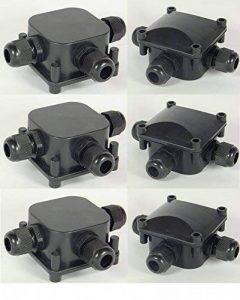 Tpbox 6 pièces IP68 Boîte de jonction 3 Way étanche Connecteurs de câble Coupler Box-black de la marque TPBox image 0 produit