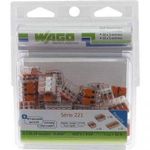 Wago WAG221/PAN50 Pack de 50 Bornes de connexion universelle tous conducteurs Type 221/2-3-5 entrées de la marque Wago image 0 produit